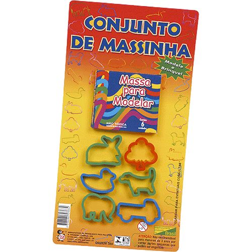 KIT MASSINHA E FORMINHAS